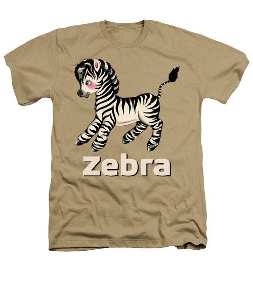 Cute Baby Zebra Pattern Vintage Book Illustration Pattern Heathers T-Shirt by Tina Lavoie