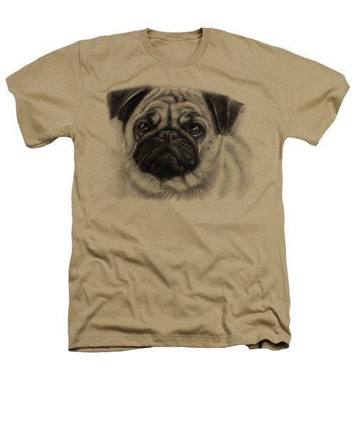 Cute Pug Heathers T-Shirt by Olga Shvartsur