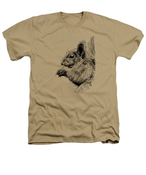 Cute Squirrel Heathers T-Shirt by Masha Batkova