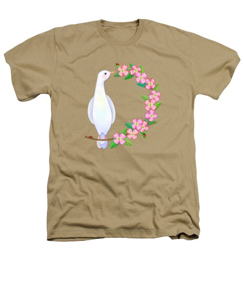D Is For Dove And Dogwood Heathers T-Shirt by Valerie Drake Lesiak