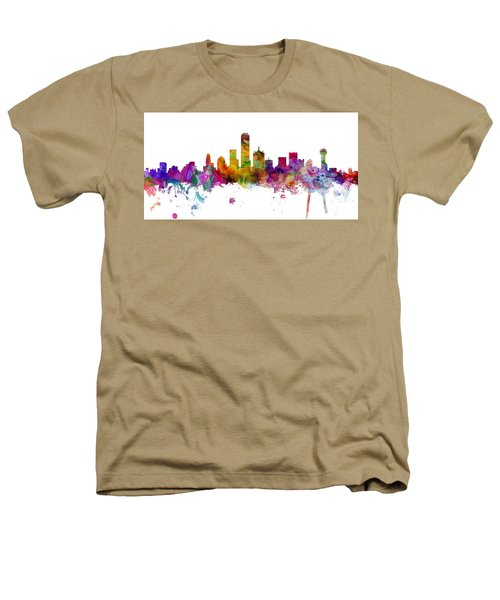 Dallas Texas Skyline Panoramic Heathers T-Shirt