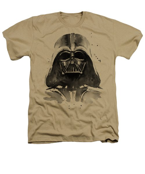 Darth Vader Watercolor Heathers T-Shirt by Olga Shvartsur