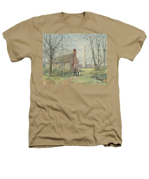 David Burns's Cottage And The Washington Monument, Washington Dc, 1892  Heathers T-Shirt