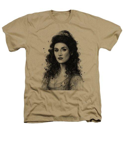 Deanna Troi - Star Trek Fan Art Heathers T-Shirt by Olga Shvartsur