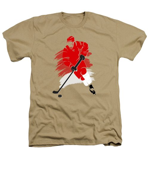 Detroit Red Wings Player Shirt Heathers T-Shirt by Joe Hamilton