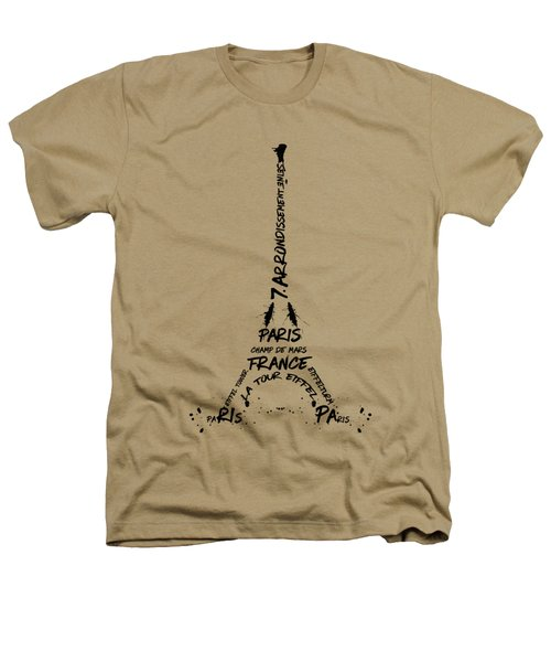 Digital-art Eiffel Tower Heathers T-Shirt by Melanie Viola