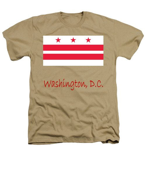 District Of Columbia Flag Heathers T-Shirt