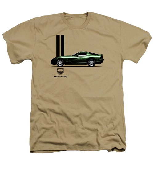 Dodge Viper Snake Green Heathers T-Shirt by Mark Rogan
