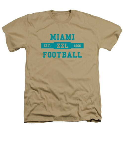 Dolphins Retro Shirt Heathers T-Shirt by Joe Hamilton