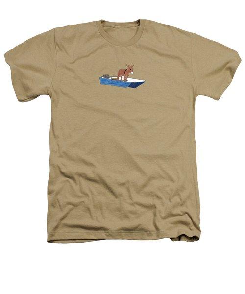Donkey Daybreak Heathers T-Shirt by Priscilla Wolfe
