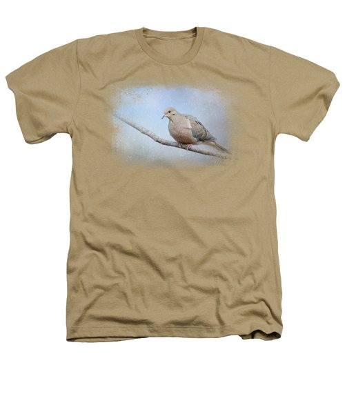 Dove In The Snow Heathers T-Shirt by Jai Johnson