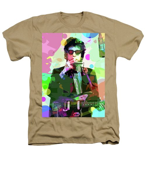 Dylan In Studio Heathers T-Shirt by David Lloyd Glover