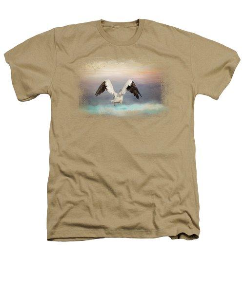Early Morning Swim Heathers T-Shirt by Jai Johnson