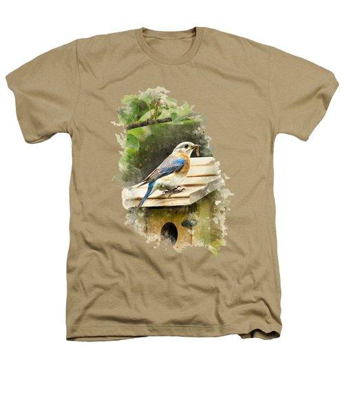 Eastern Bluebird Watercolor Art Heathers T-Shirt