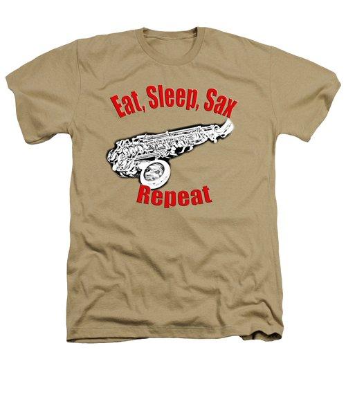 Eat Sleep Sax Repeat Heathers T-Shirt by M K  Miller