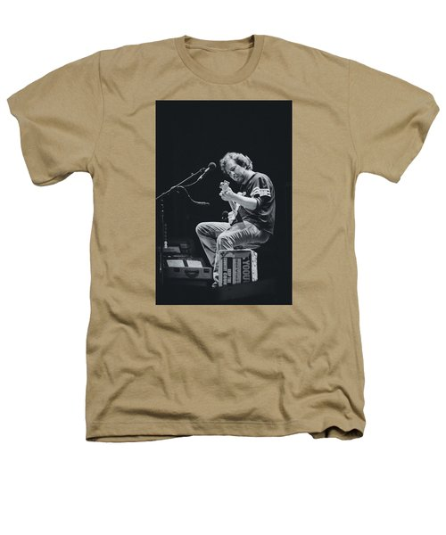Eddie Vedder Playing Live Heathers T-Shirt by Marco Oliveira