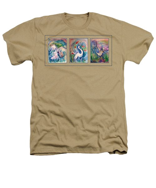 Egret Series Heathers T-Shirt by Robin Monroe