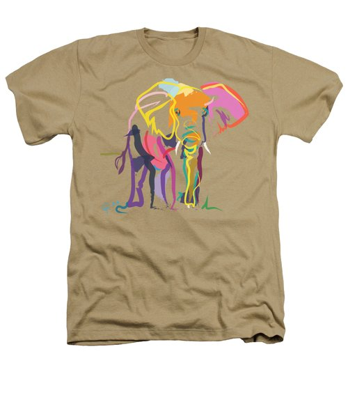 Elephant In Color Ecru Heathers T-Shirt