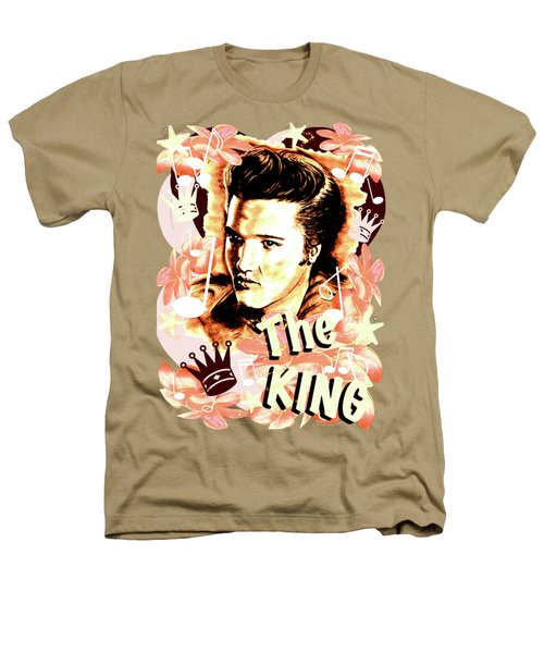 Elvis The King In Salmon Red Heathers T-Shirt