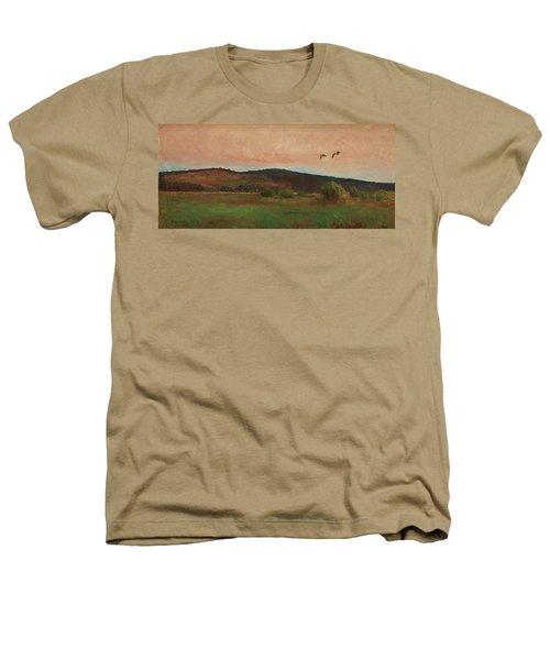 Eurasian Woodcocks Heathers T-Shirt by Bruno Liljefors