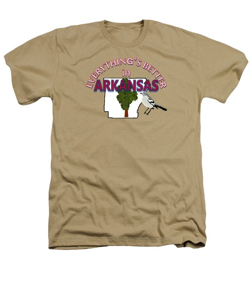 Everything's Better In Arkansas Heathers T-Shirt by Pharris Art