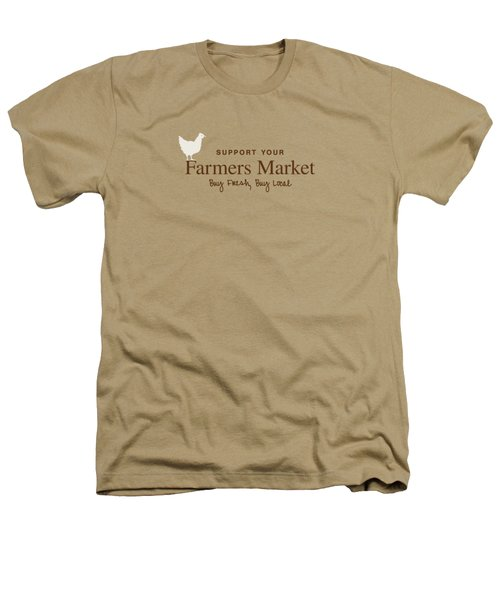 Farmers Market Heathers T-Shirt by Nancy Ingersoll