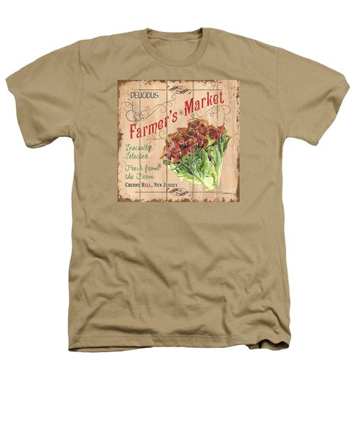 Farmer's Market Sign Heathers T-Shirt by Debbie DeWitt