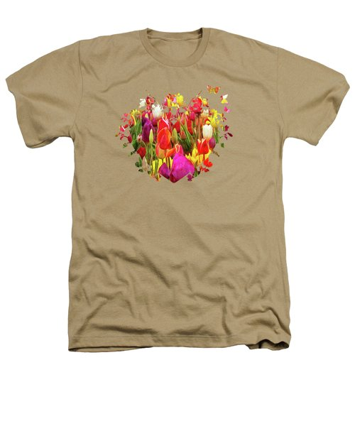 Field Of Tulips Heathers T-Shirt by Thom Zehrfeld