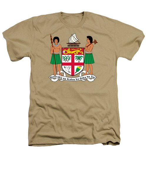 Fiji Coat Of Arms Heathers T-Shirt by Movie Poster Prints