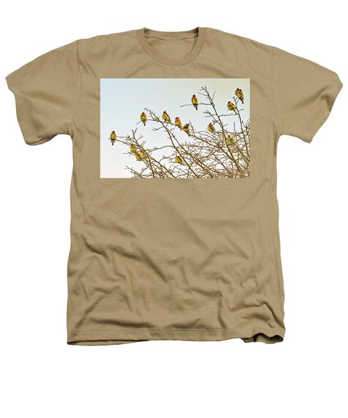 Flock Of Cedar Waxwings  Heathers T-Shirt by Geraldine Scull