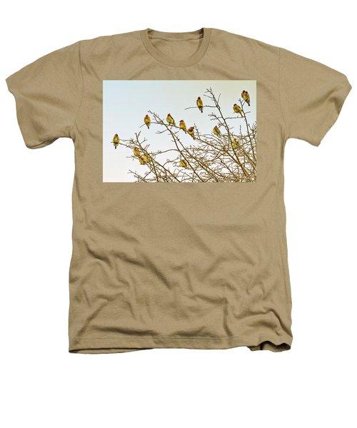 Flock Of Cedar Waxwings  Heathers T-Shirt by Geraldine Scull