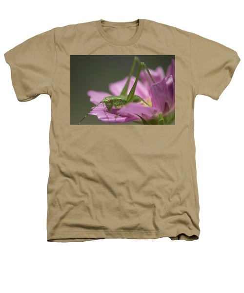 Flower Hopper Heathers T-Shirt by Michael Eingle