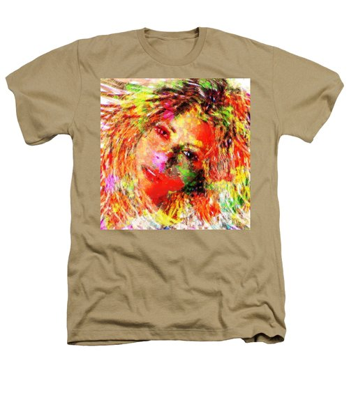 Flowery Shakira Heathers T-Shirt by Navo Art