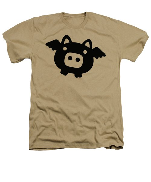 Flying Pig - Black Heathers T-Shirt