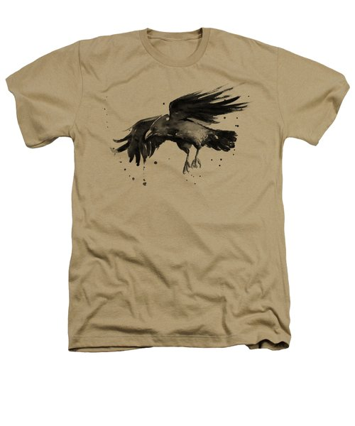 Flying Raven Watercolor Heathers T-Shirt