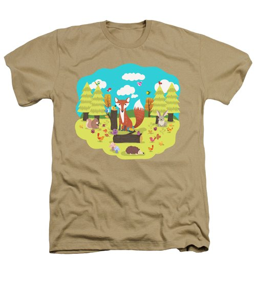 Forest Friends Fall Frolic Heathers T-Shirt