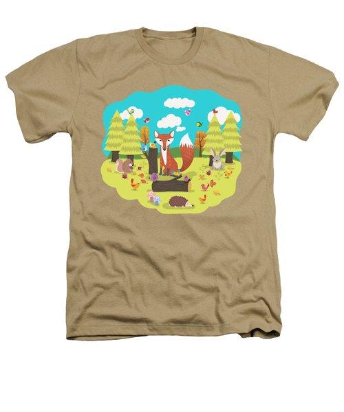 Forest Friends Fall Frolic Heathers T-Shirt