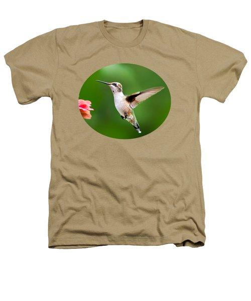 Free As A Bird Hummingbird Heathers T-Shirt by Christina Rollo