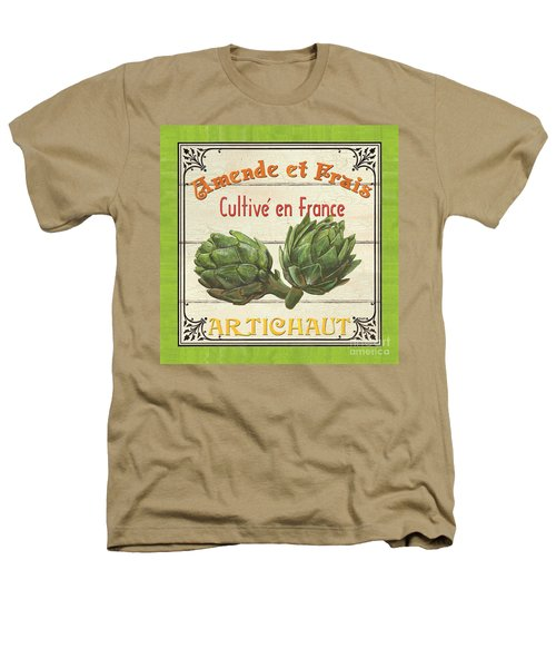 French Vegetable Sign 2 Heathers T-Shirt by Debbie DeWitt