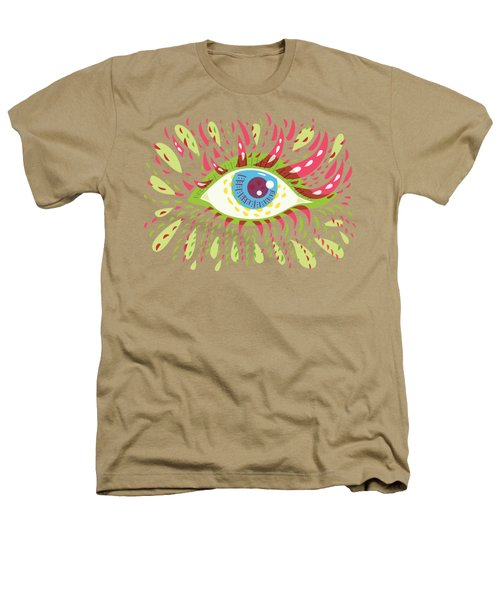 From Looking Psychedelic Eye Heathers T-Shirt by Boriana Giormova