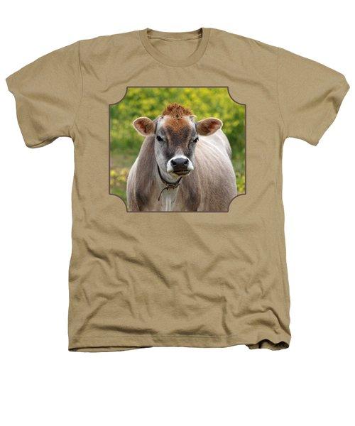 Funny Jersey Cow - Horizontal Heathers T-Shirt