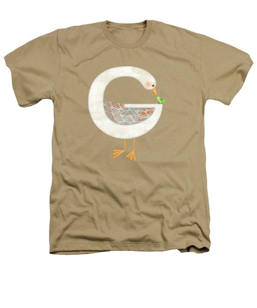 G Is For Goose And Grasshopper Heathers T-Shirt by Valerie Drake Lesiak