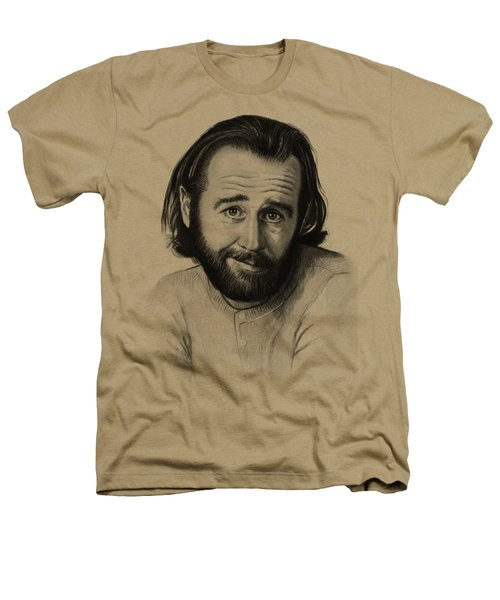George Carlin Portrait Heathers T-Shirt by Olga Shvartsur