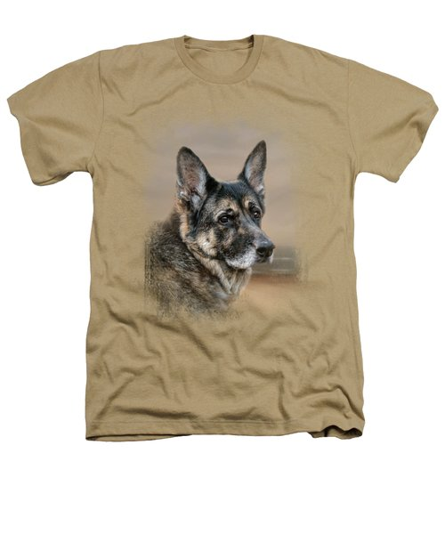 German Shepherd Dreaming Of The Beach Heathers T-Shirt