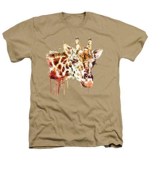 Giraffe Head Heathers T-Shirt by Marian Voicu