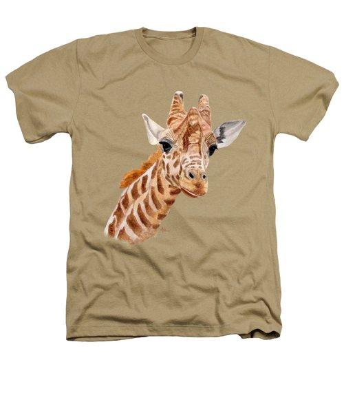 Giraffe Portrait Heathers T-Shirt