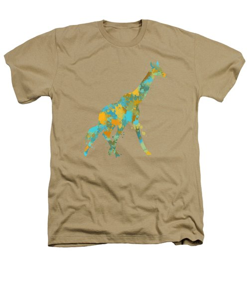 Giraffe Watercolor Art Heathers T-Shirt by Christina Rollo