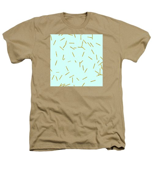 Glitter Confetti On Aqua Gold Pick Up Sticks Pattern Heathers T-Shirt by Tina Lavoie