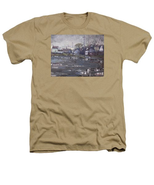 Gloomy And Rainy Day By Hyde Park Heathers T-Shirt by Ylli Haruni