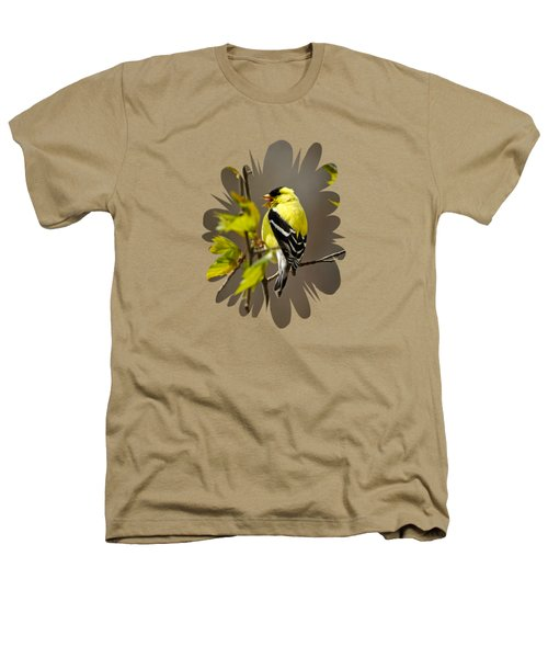 Goldfinch Suspended In Song Heathers T-Shirt by Christina Rollo